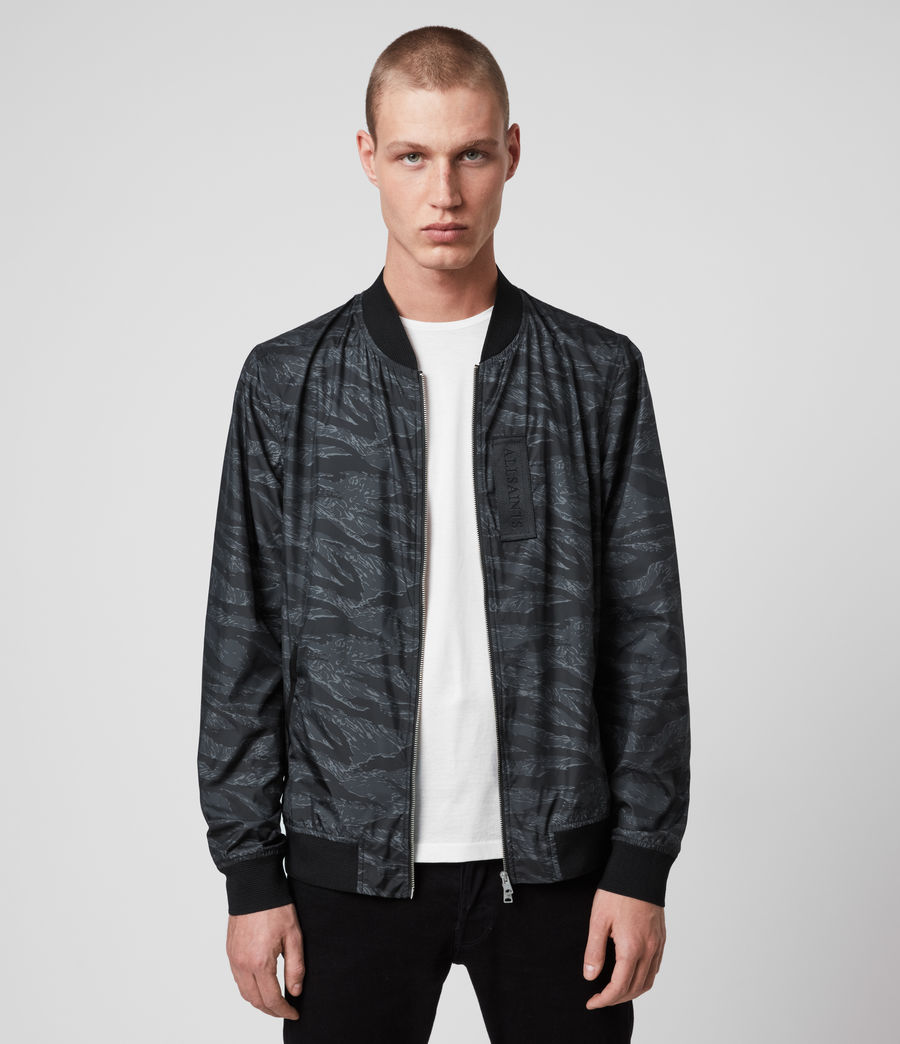 Mens Morton Bomber Jacket (washed_black_camo) - Image 1