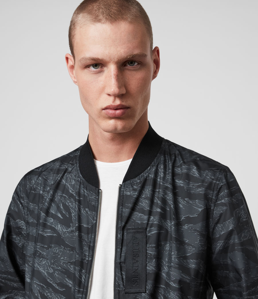 Mens Morton Bomber Jacket (washed_black_camo) - Image 2