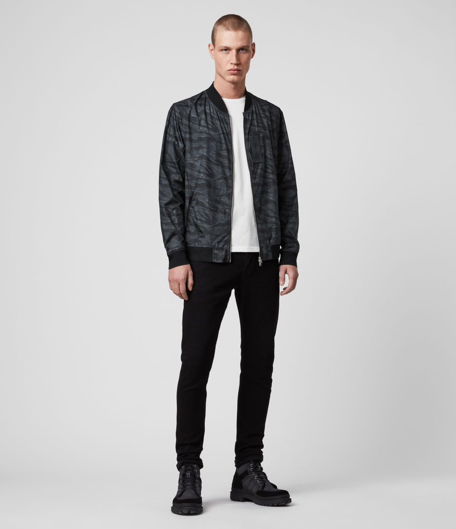 Mens Morton Bomber Jacket (washed_black_camo) - Image 3