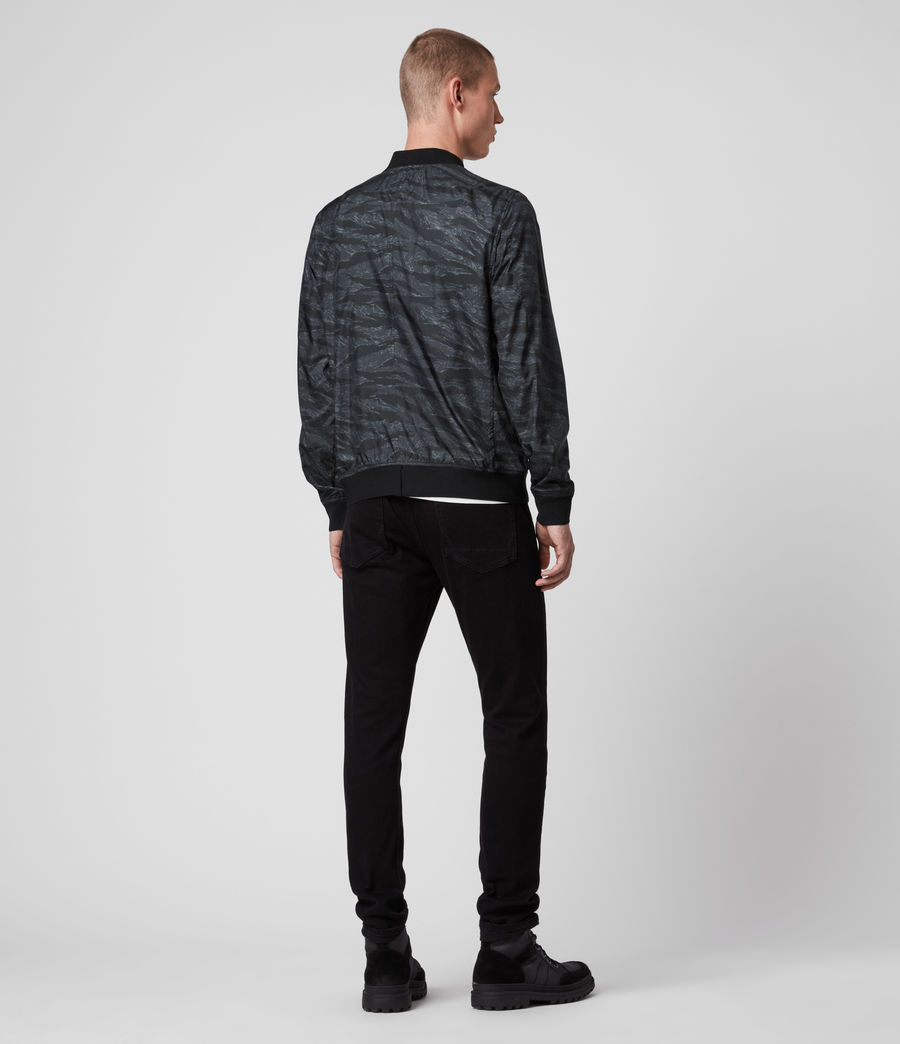 Mens Morton Bomber Jacket (washed_black_camo) - Image 4