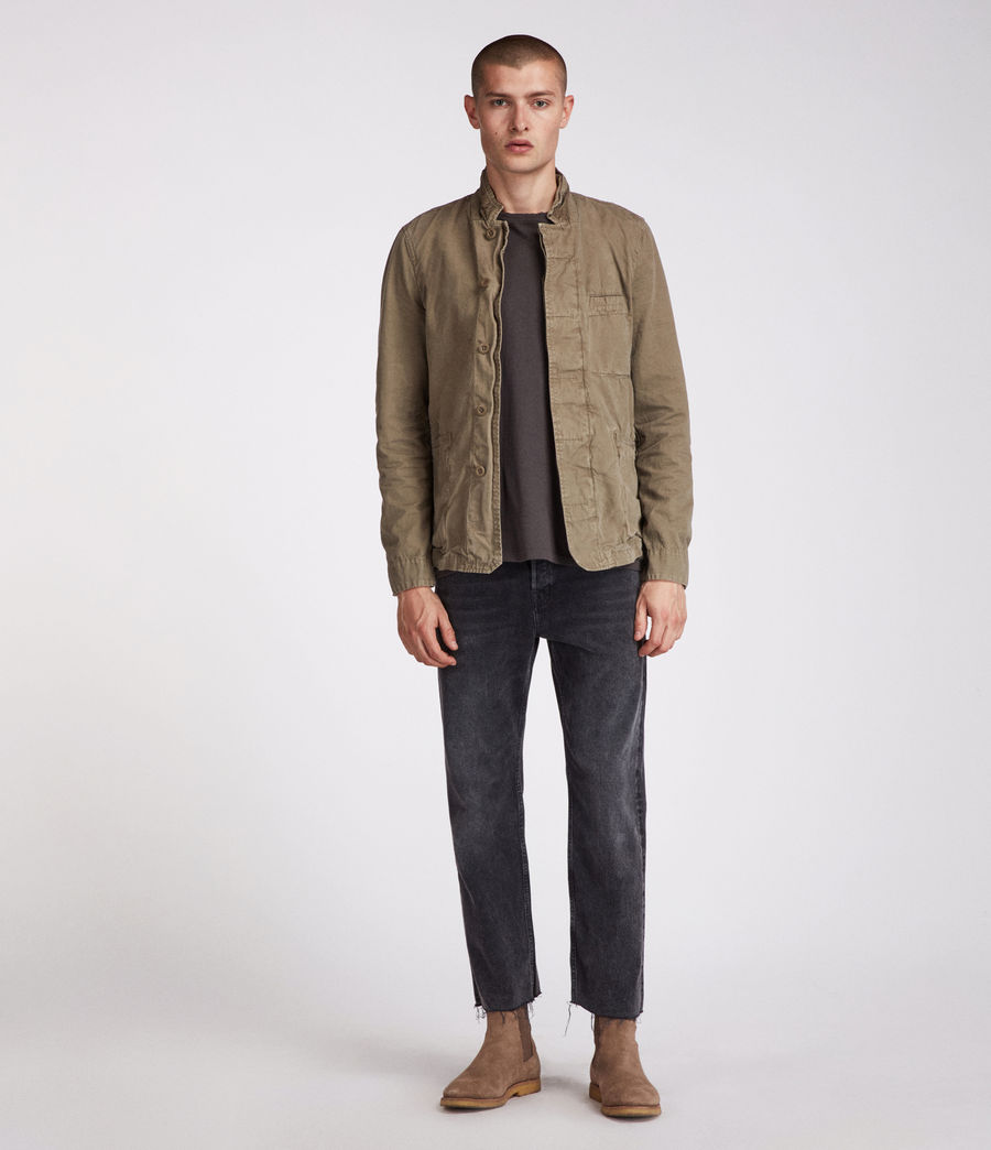 Men's Store Blazer (khaki_green) - Image 2