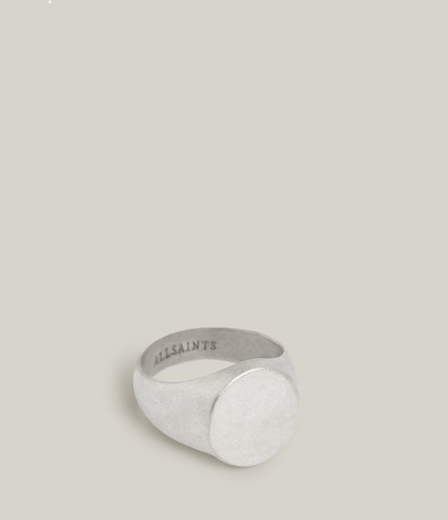 Men's Izaac Sterling Silver Ring (warm_silver) - Image 1