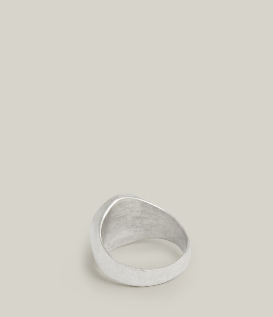 Men's Izaac Sterling Silver Ring (warm_silver) - Image 4