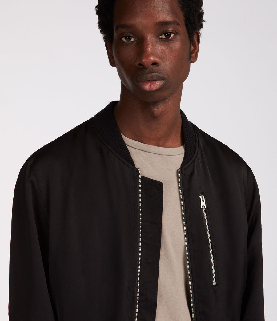 Mens Moyne Bomber Jacket (black) - Image 2