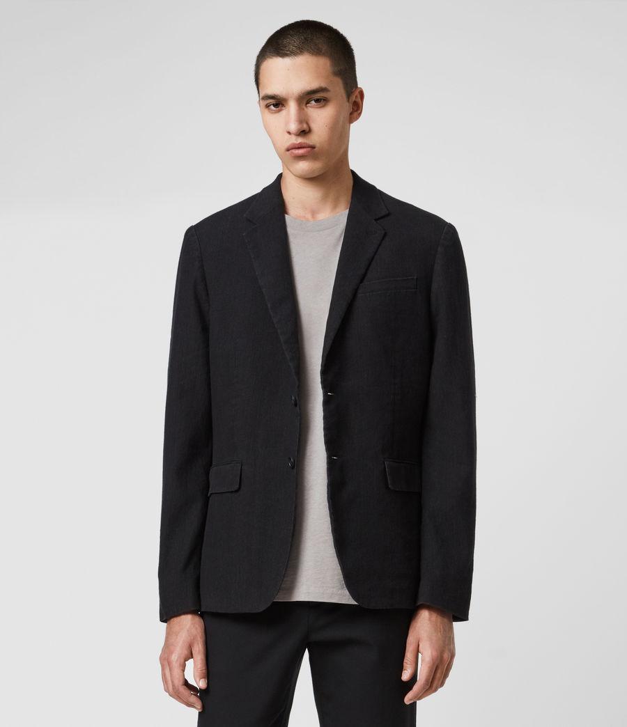 Hombre Baron Linen Blend Blazer (black) - Image 1