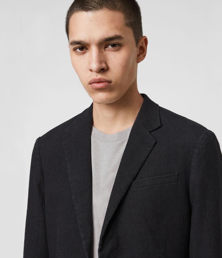 Mens Baron Linen Blend Blazer (black) - Image 2