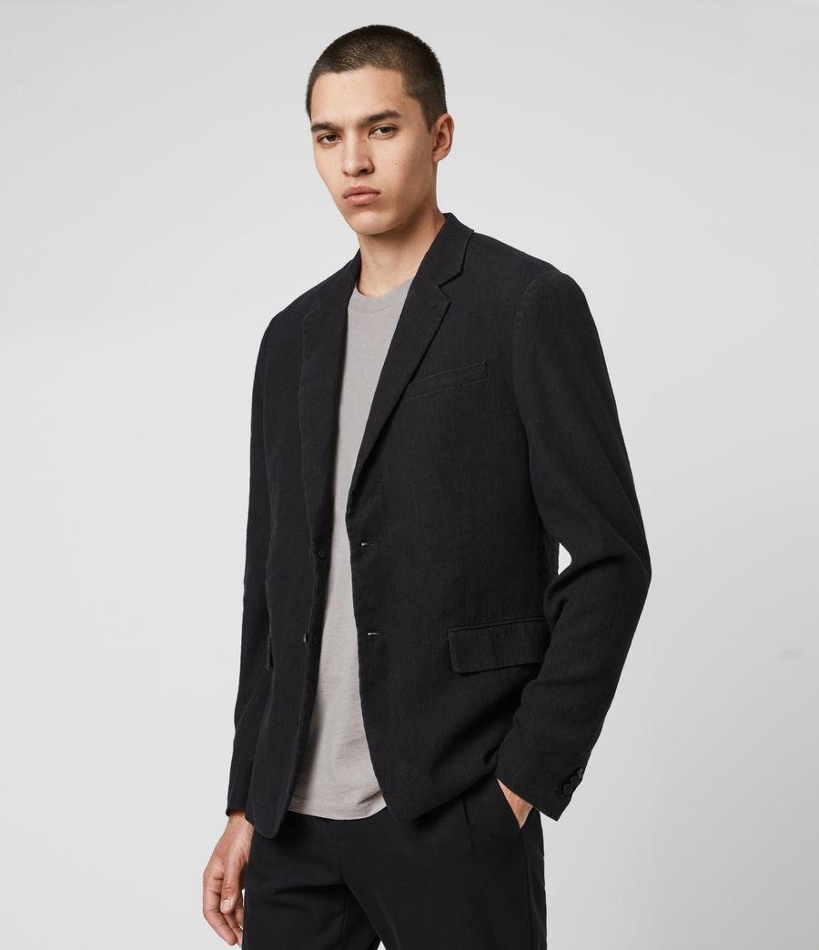 Hombre Baron Linen Blend Blazer (black) - Image 2
