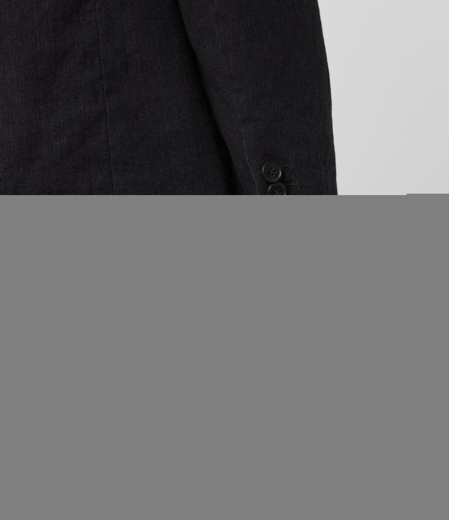 Hombre Baron Linen Blend Blazer (black) - Image 3