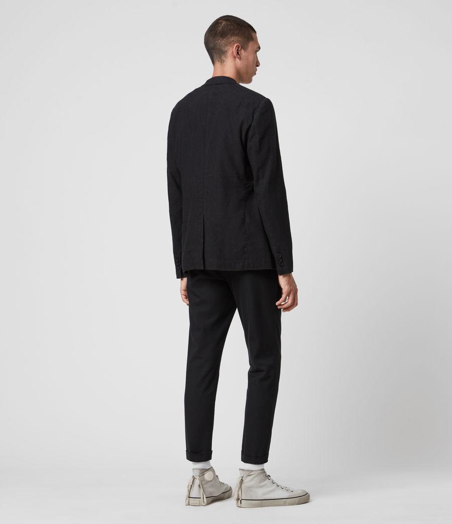 Hombre Baron Linen Blend Blazer (black) - Image 4