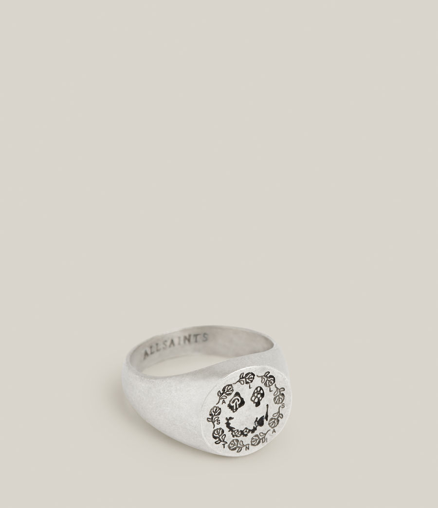 Men's Abiah Sterling Silver Ring (warm_silver) - Image 1
