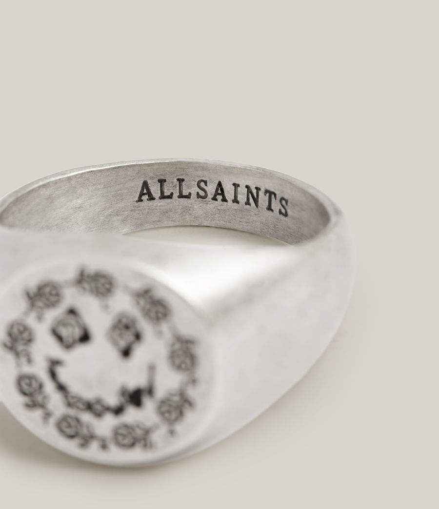 Men's Abiah Sterling Silver Ring (warm_silver) - Image 3
