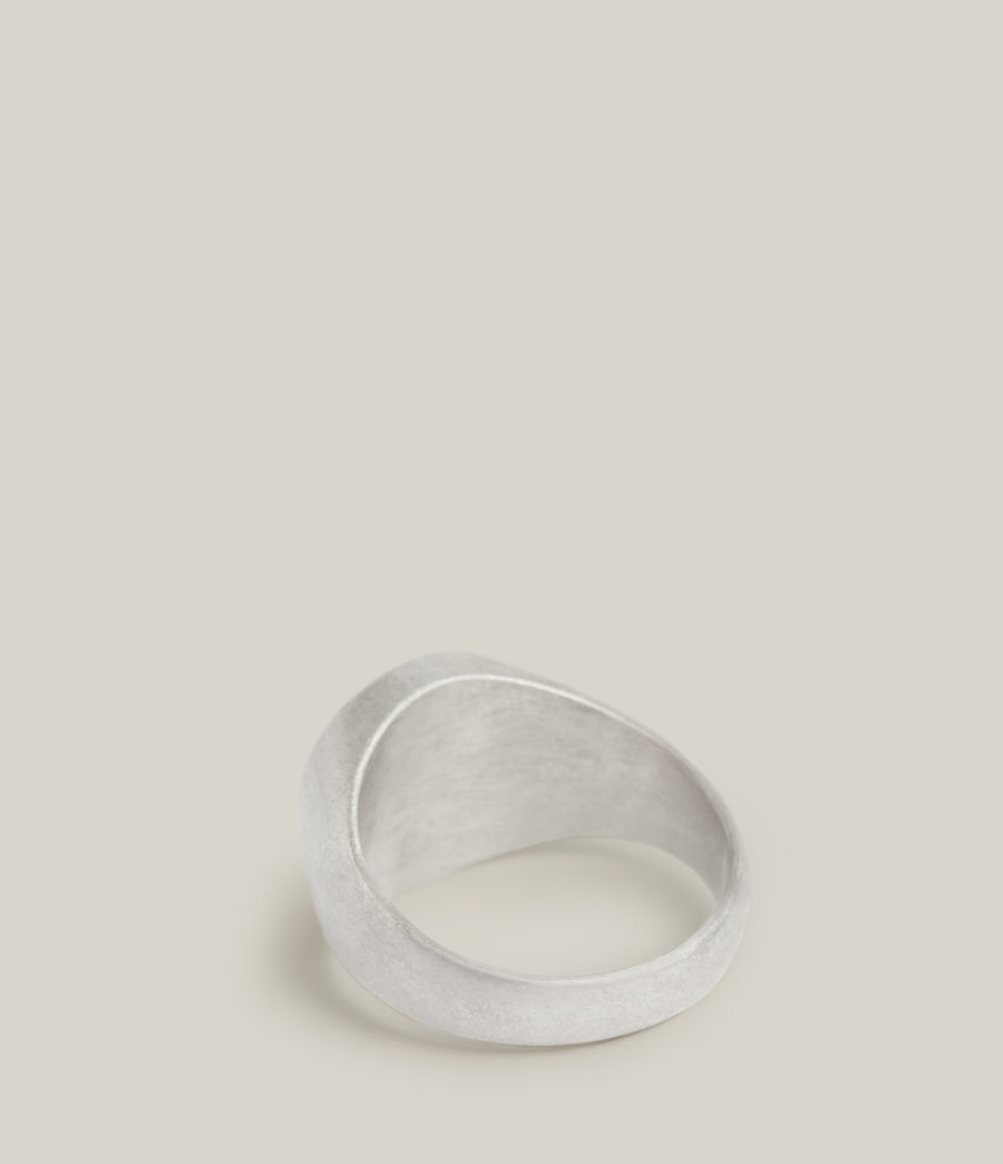 Men's Abiah Sterling Silver Ring (warm_silver) - Image 4