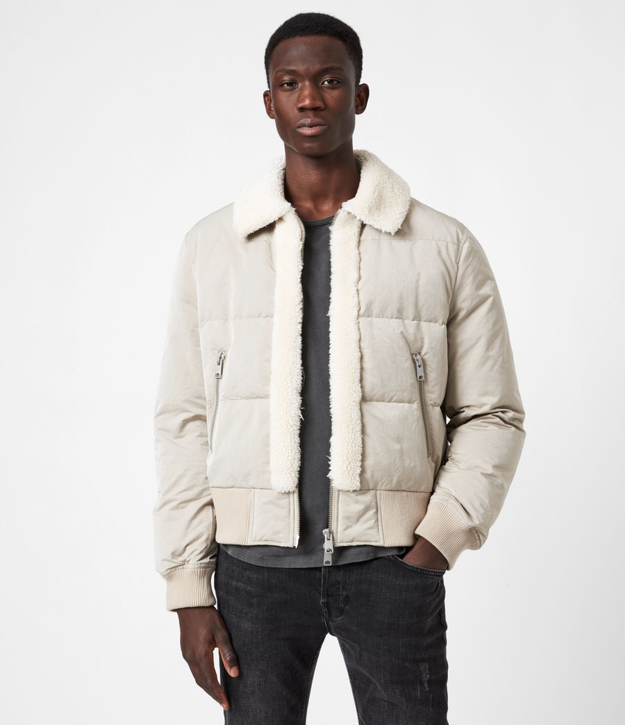 Men's Gowers Sherpa-Lined Puffer Jacket (lyme_taupe) - Image 1