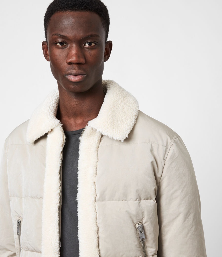 Men's Gowers Sherpa-Lined Puffer Jacket (lyme_taupe) - Image 4