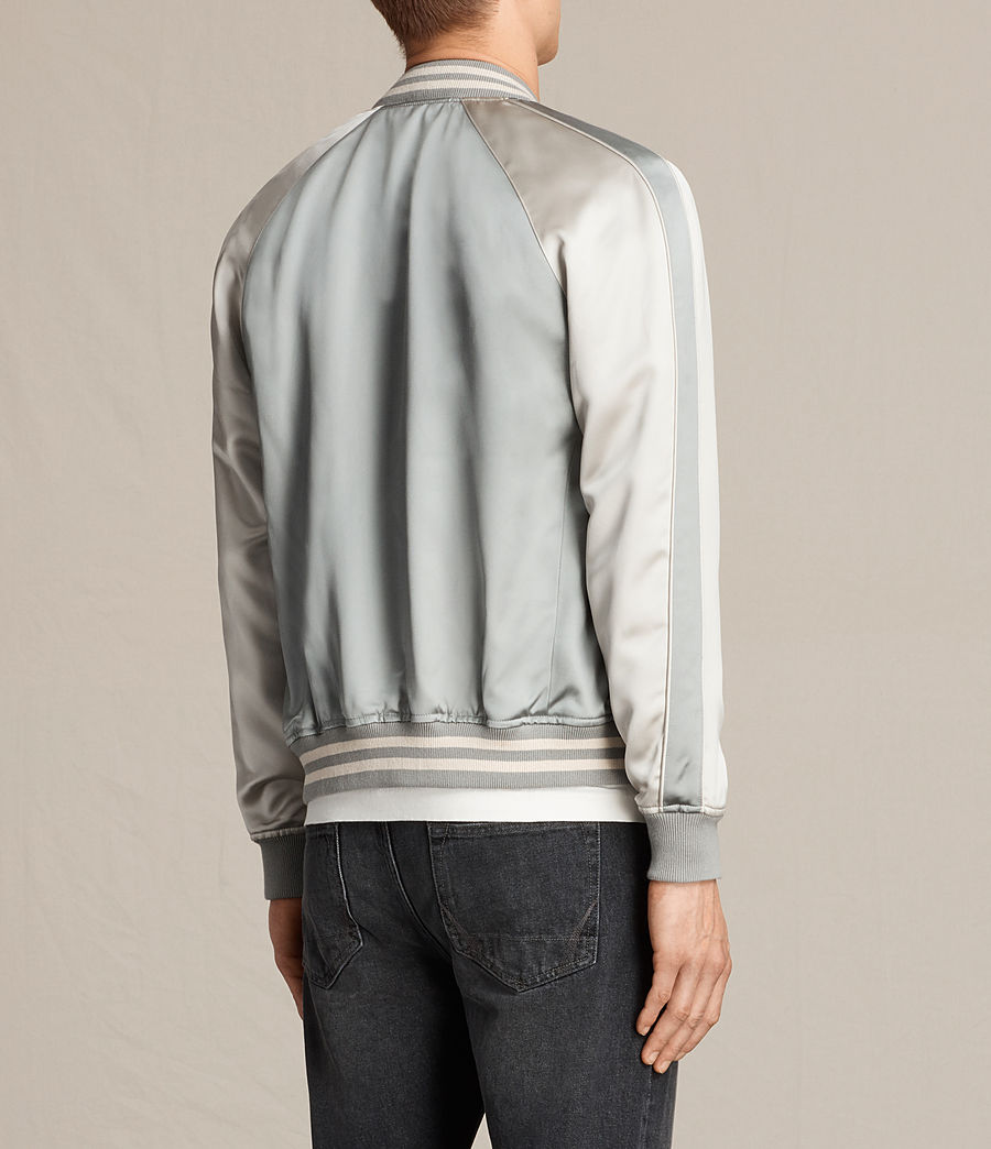 Herren Rundle Bomber Jacket (powder_blue) - Image 5