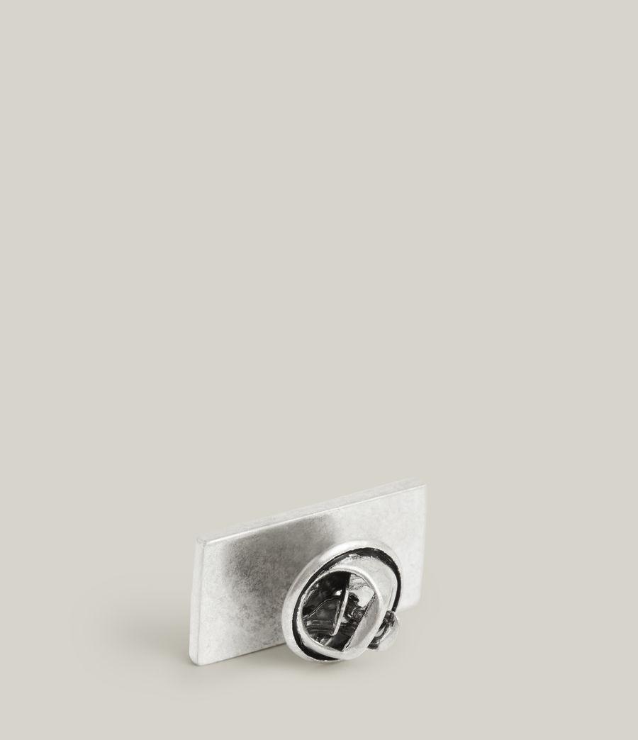 Men's Foudre Sterling Silver Pin (warm_silver) - Image 3