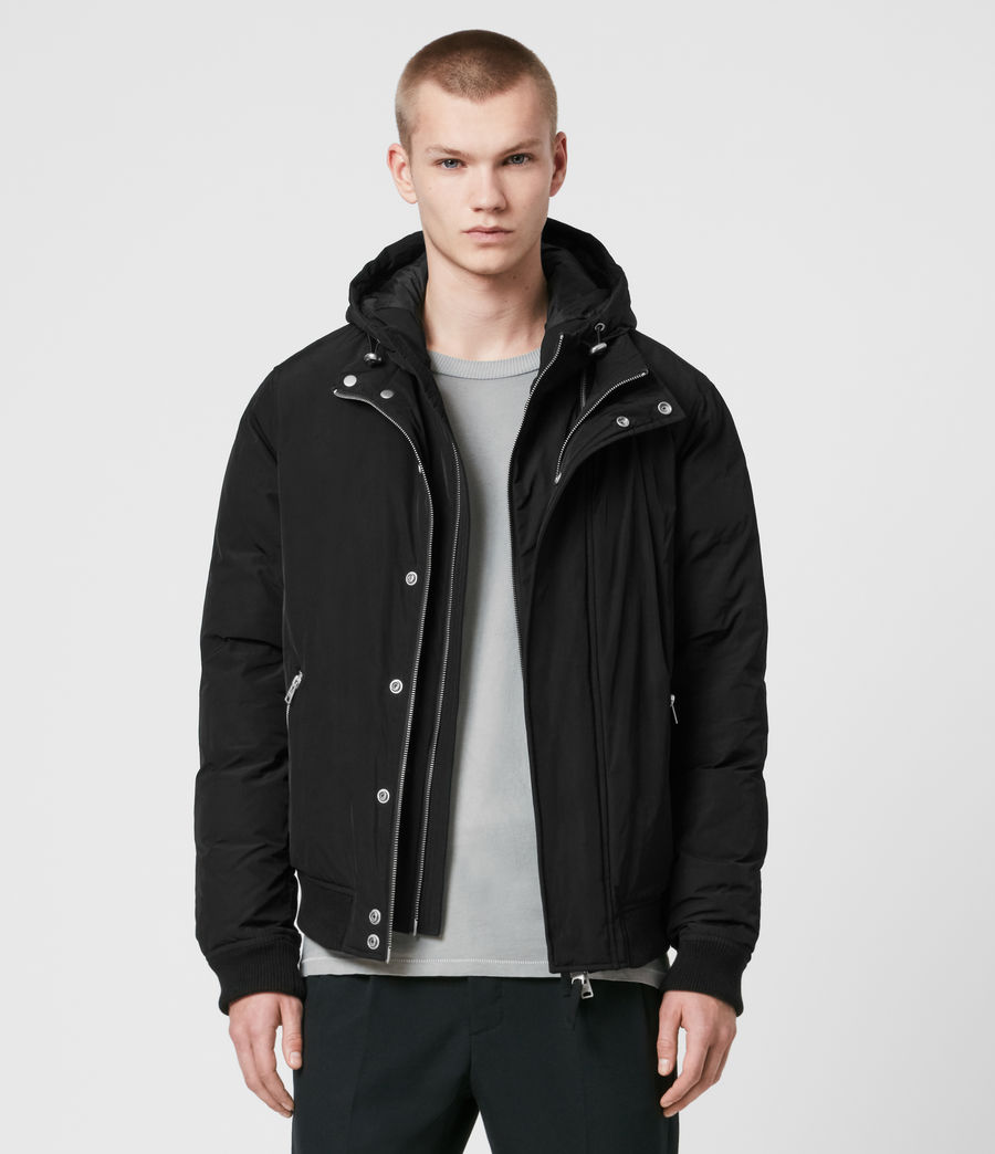 Mens Gravis Bomber Jacket (black) - Image 1