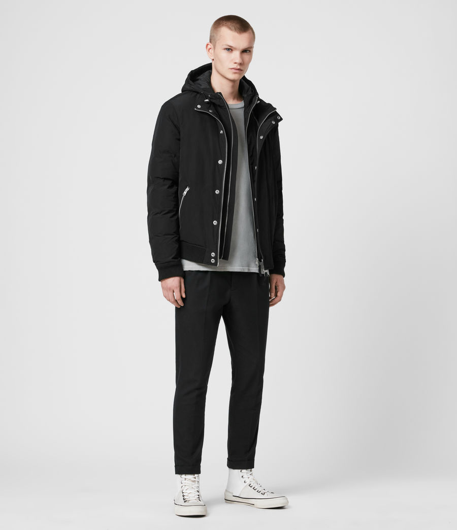 Mens Gravis Bomber Jacket (black) - Image 2