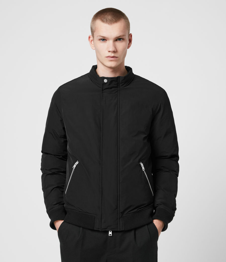 Mens Gravis Bomber Jacket (black) - Image 3