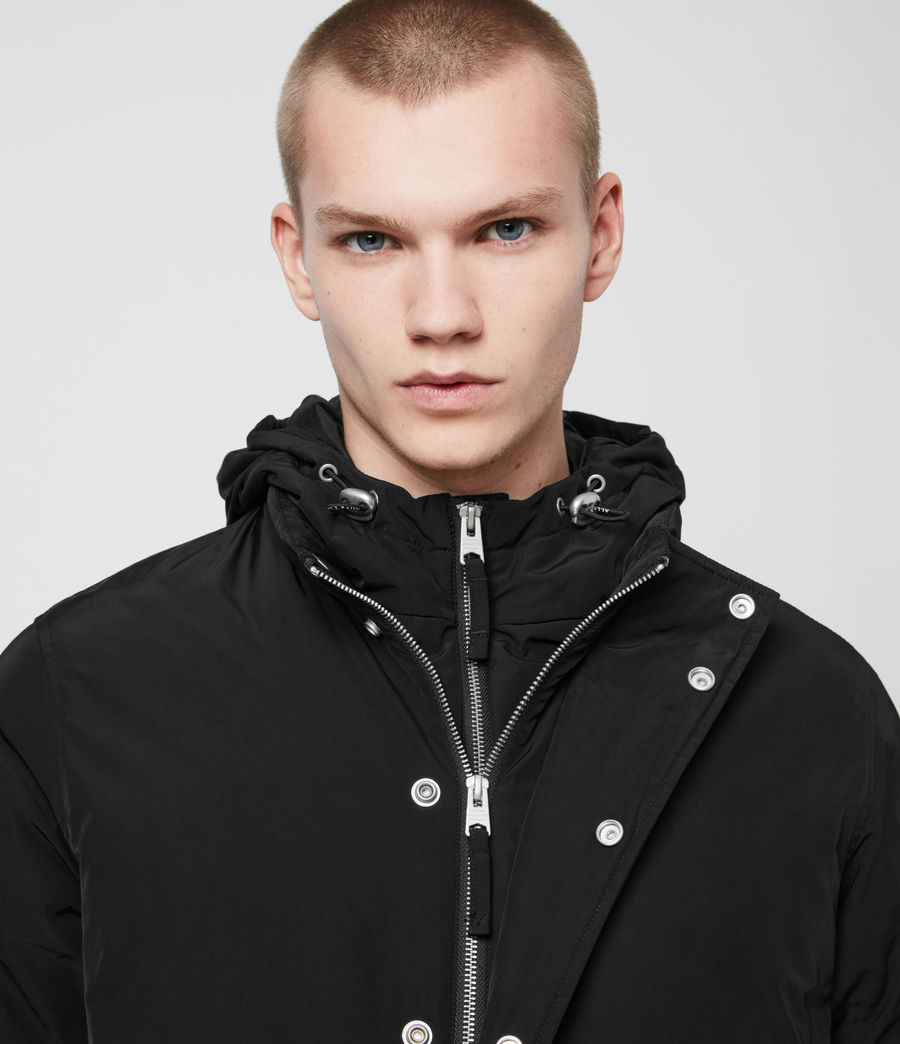 Mens Gravis Bomber Jacket (black) - Image 4