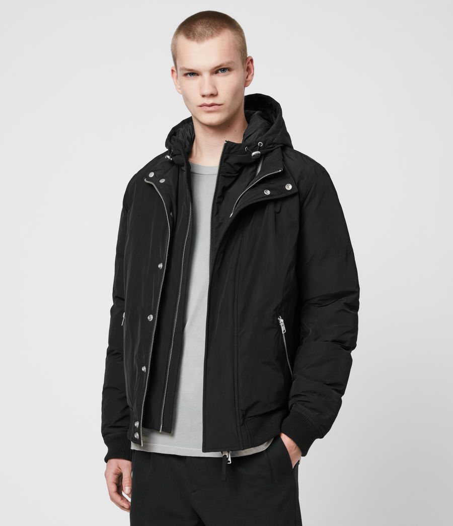 Mens Gravis Bomber Jacket (black) - Image 5