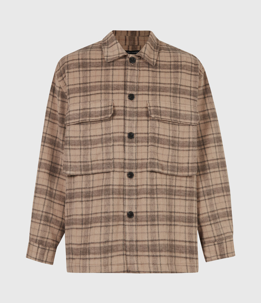 Mens Colton Check Shirt (sand) - Image 2