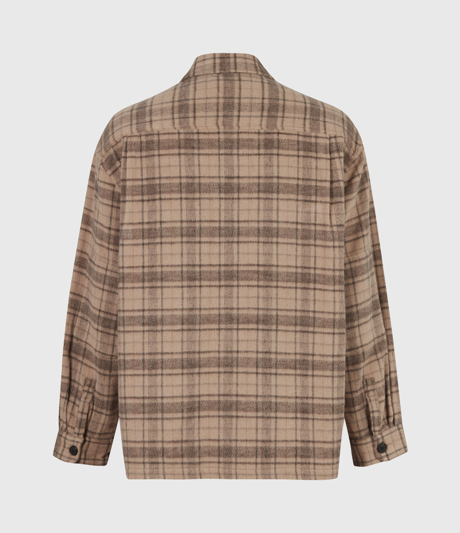 Mens Colton Check Shirt (sand) - Image 3