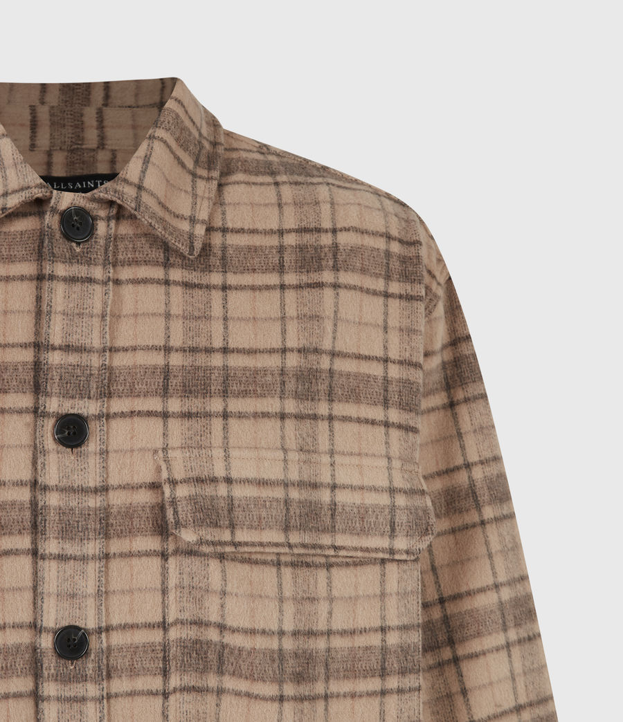 Mens Colton Check Shirt (sand) - Image 5