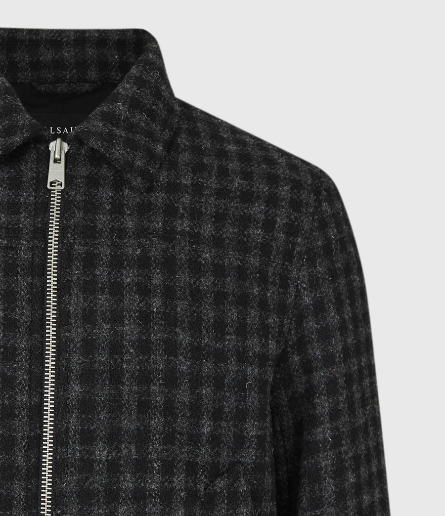 Mens Estrela British Harris Tweed Jacket (charcoal) - Image 5