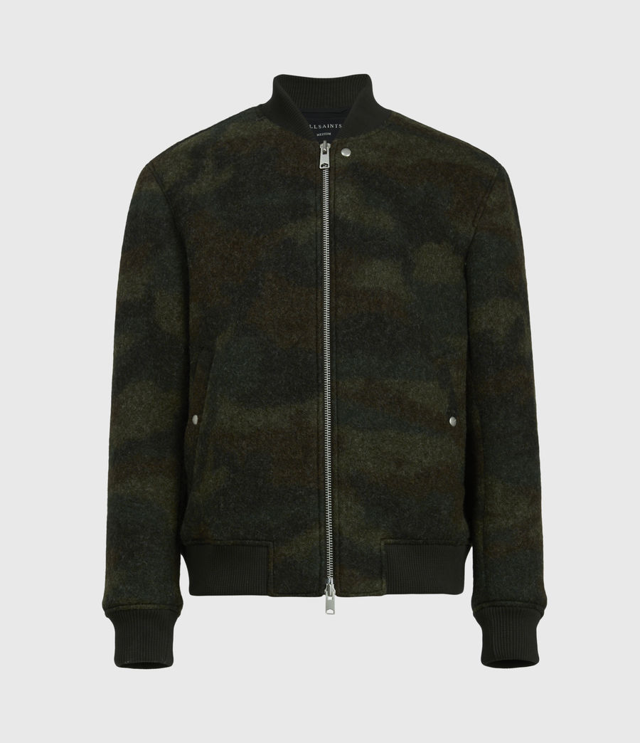 Men's Bastion Wool Blend Bomber Jacket (khaki_camo) - Image 2