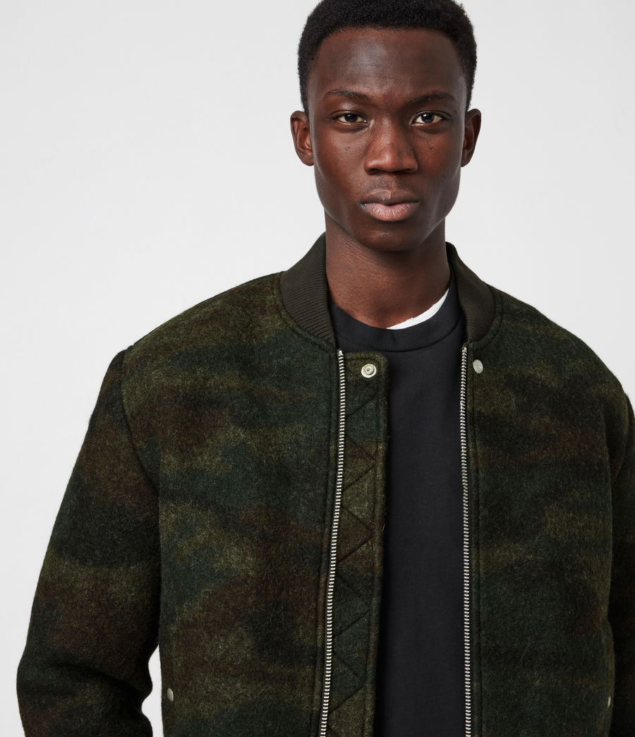 Men's Bastion Wool Blend Bomber Jacket (khaki_camo) - Image 4