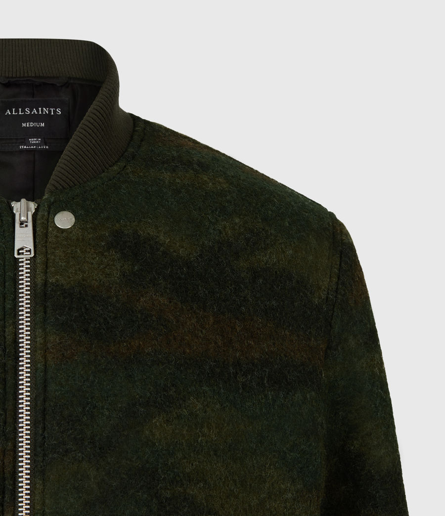 Men's Bastion Wool Blend Bomber Jacket (khaki_camo) - Image 5