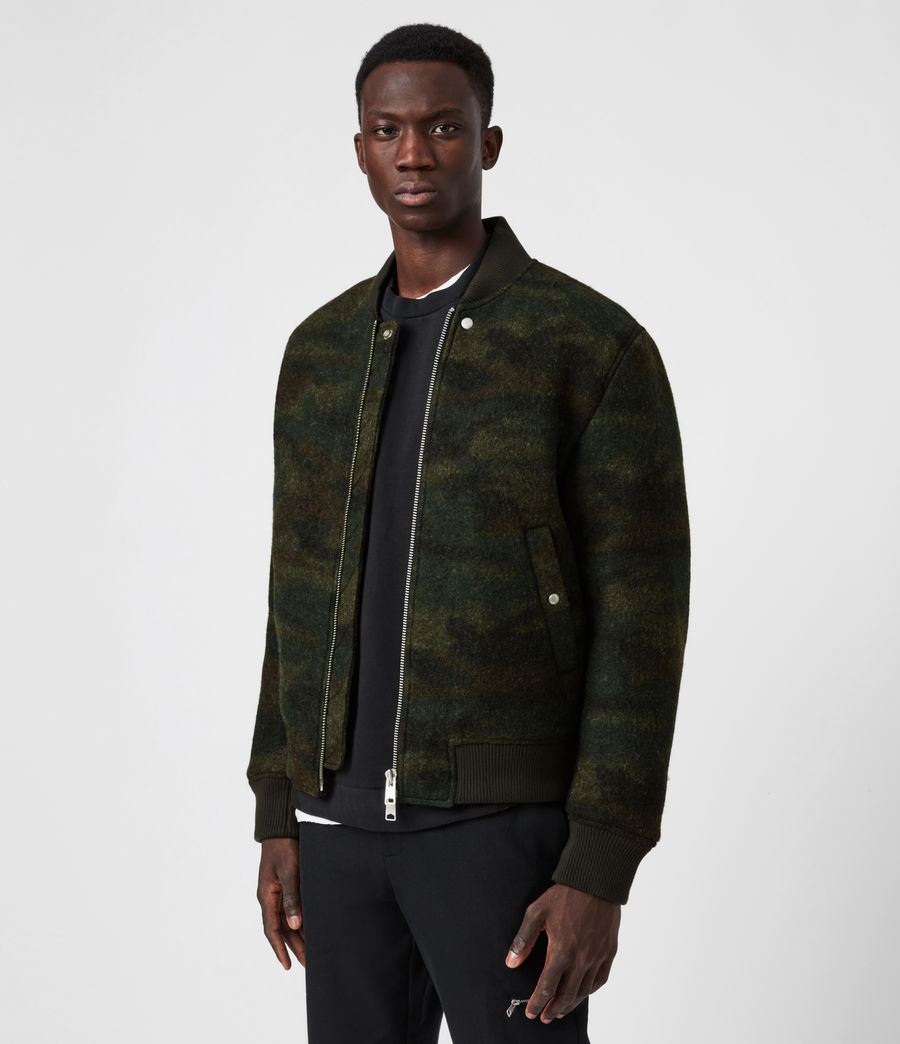 Men's Bastion Wool Blend Bomber Jacket (khaki_camo) - Image 7