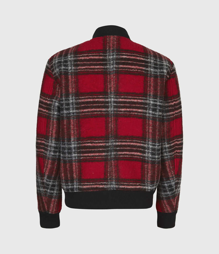 Men's Hare Wool Blend Bomber Jacket (red) - Image 3