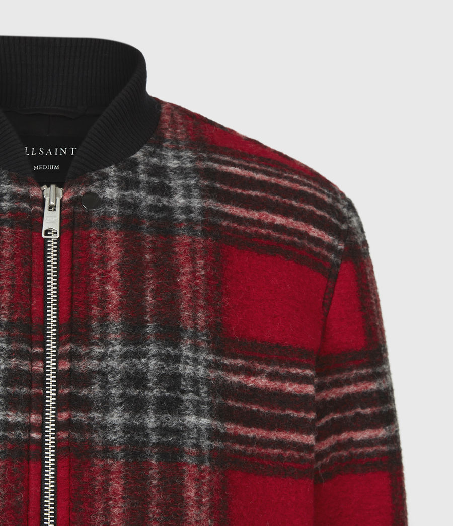 Men's Hare Wool Blend Bomber Jacket (red) - Image 5