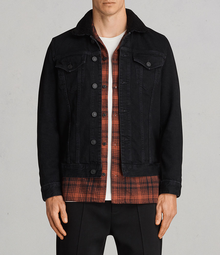 Mens Bikana Denim Jacket (Black) - Image 1