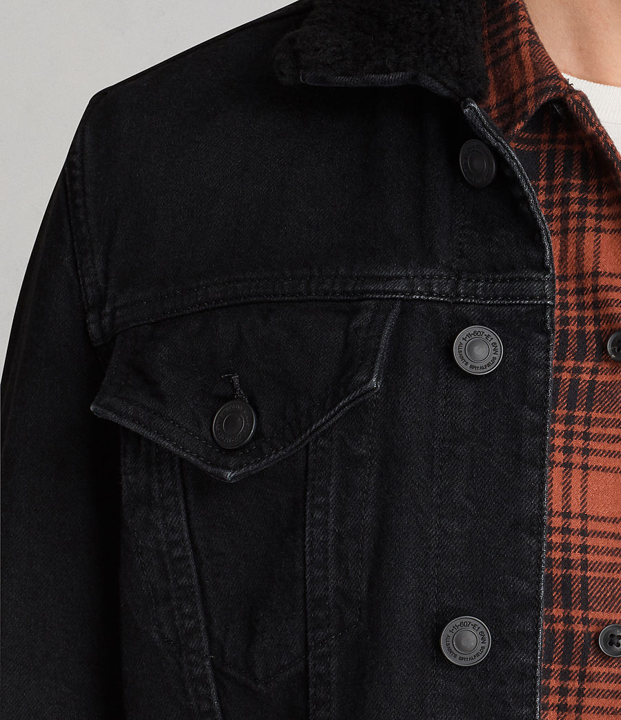 Mens Bikana Denim Jacket (Black) - Image 2