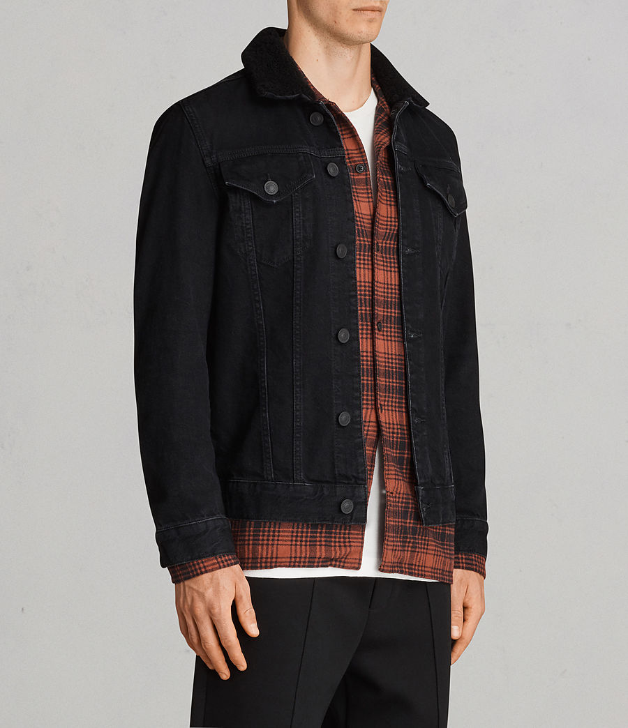 Mens Bikana Denim Jacket (Black) - Image 3