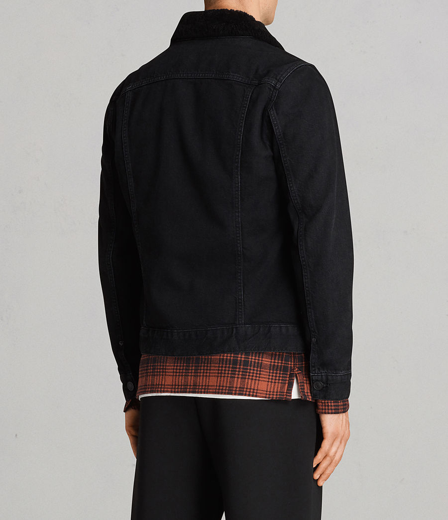 Mens Bikana Denim Jacket (Black) - Image 5