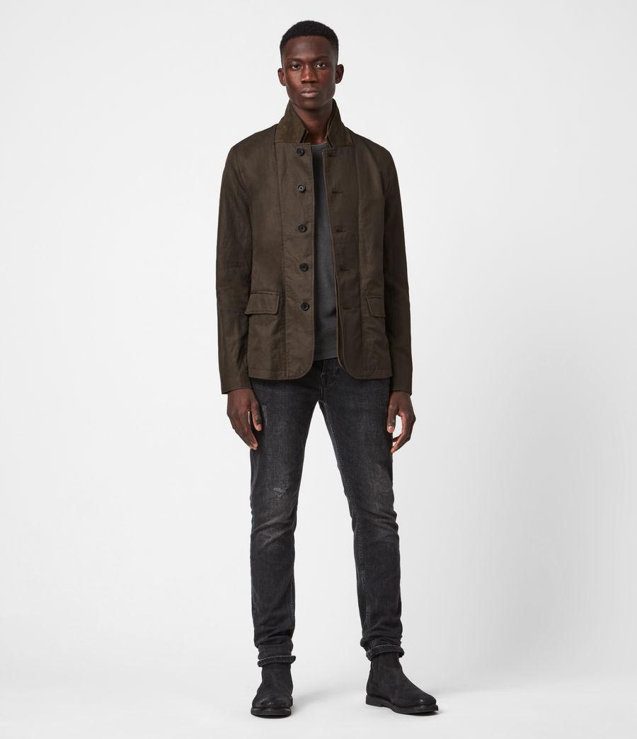 Men's Dunn Linen Blend Blazer (khaki_green) - Image 1