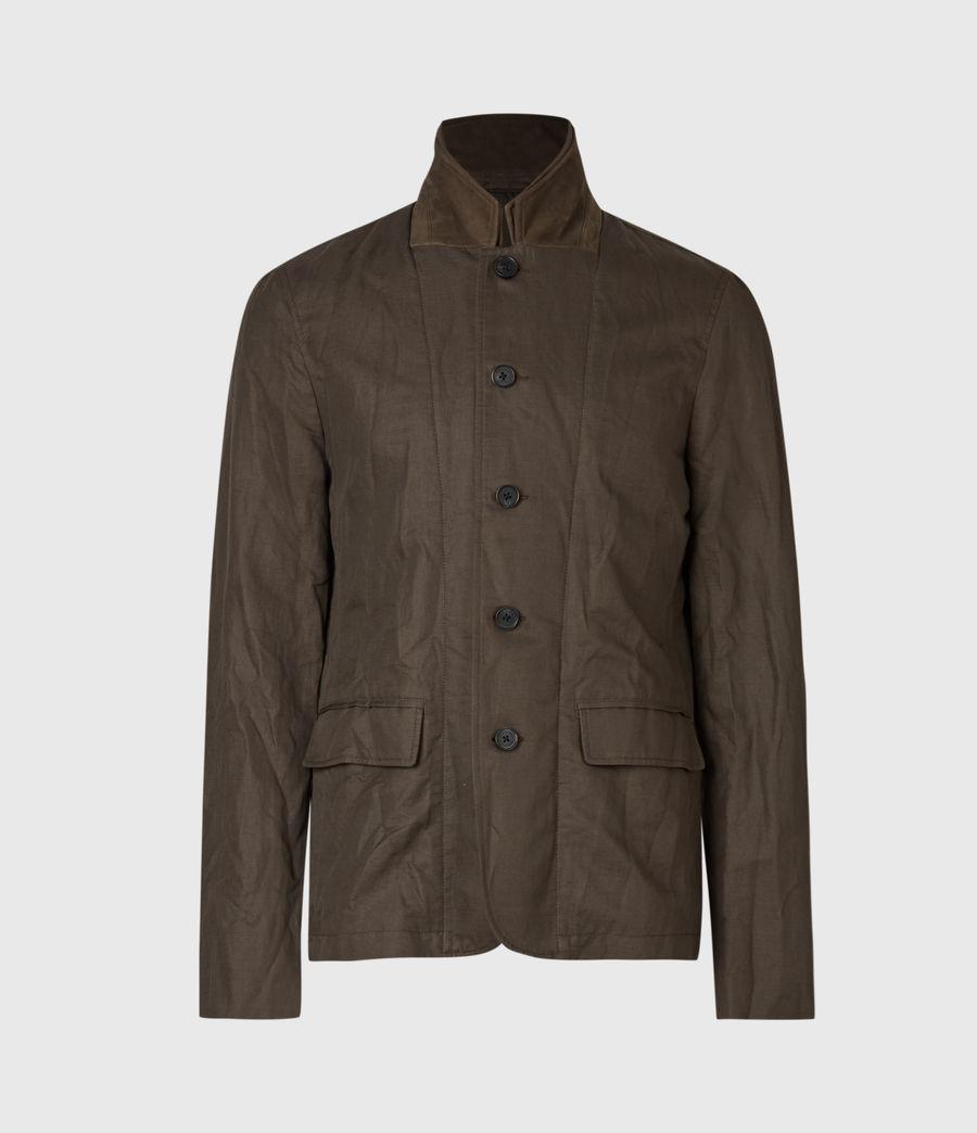 Men's Dunn Linen Blend Blazer (khaki_green) - Image 2