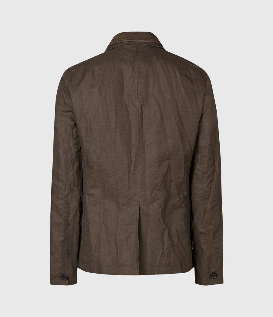 Men's Dunn Linen Blend Blazer (khaki_green) - Image 3