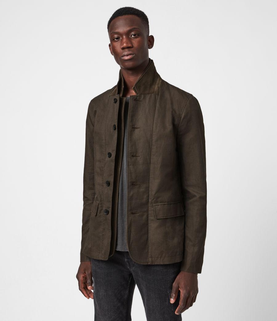 Men's Dunn Linen Blend Blazer (khaki_green) - Image 4