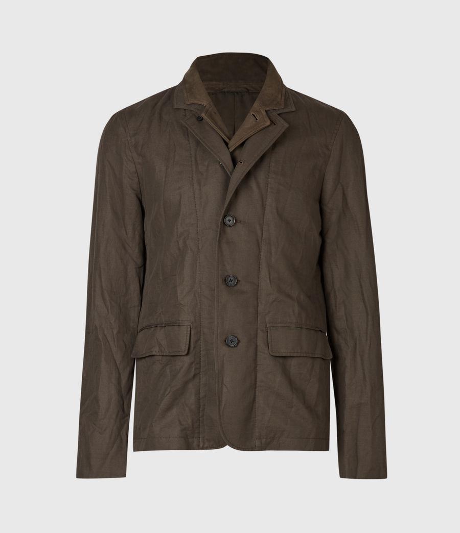 Men's Dunn Linen Blend Blazer (khaki_green) - Image 5
