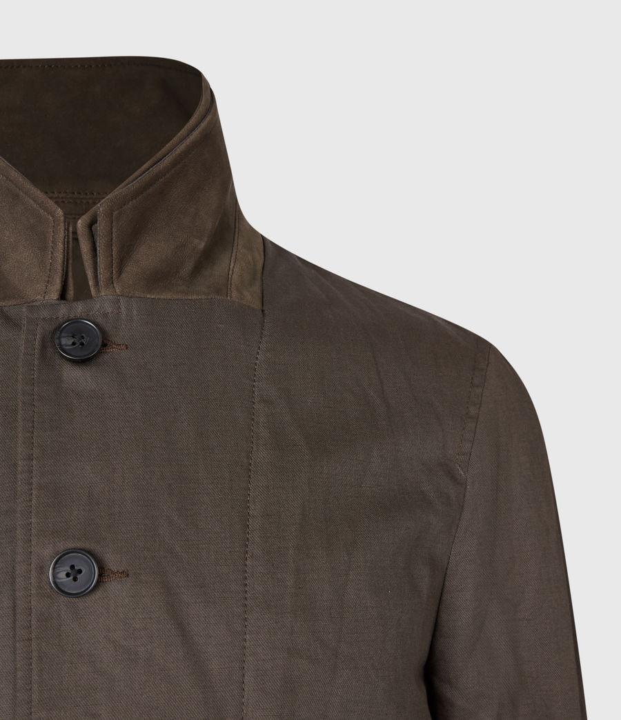 Men's Dunn Linen Blend Blazer (khaki_green) - Image 6
