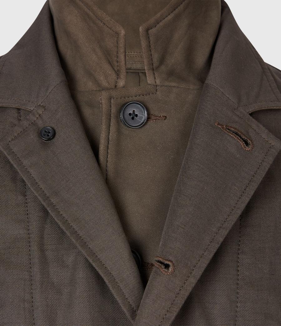 Men's Dunn Linen Blend Blazer (khaki_green) - Image 7