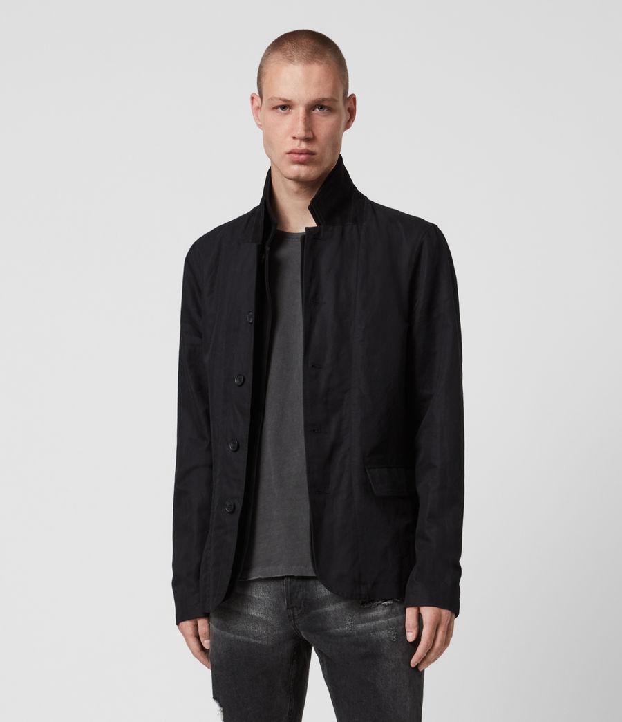 Mens Dunn Linen Blend Blazer (black) - Image 1