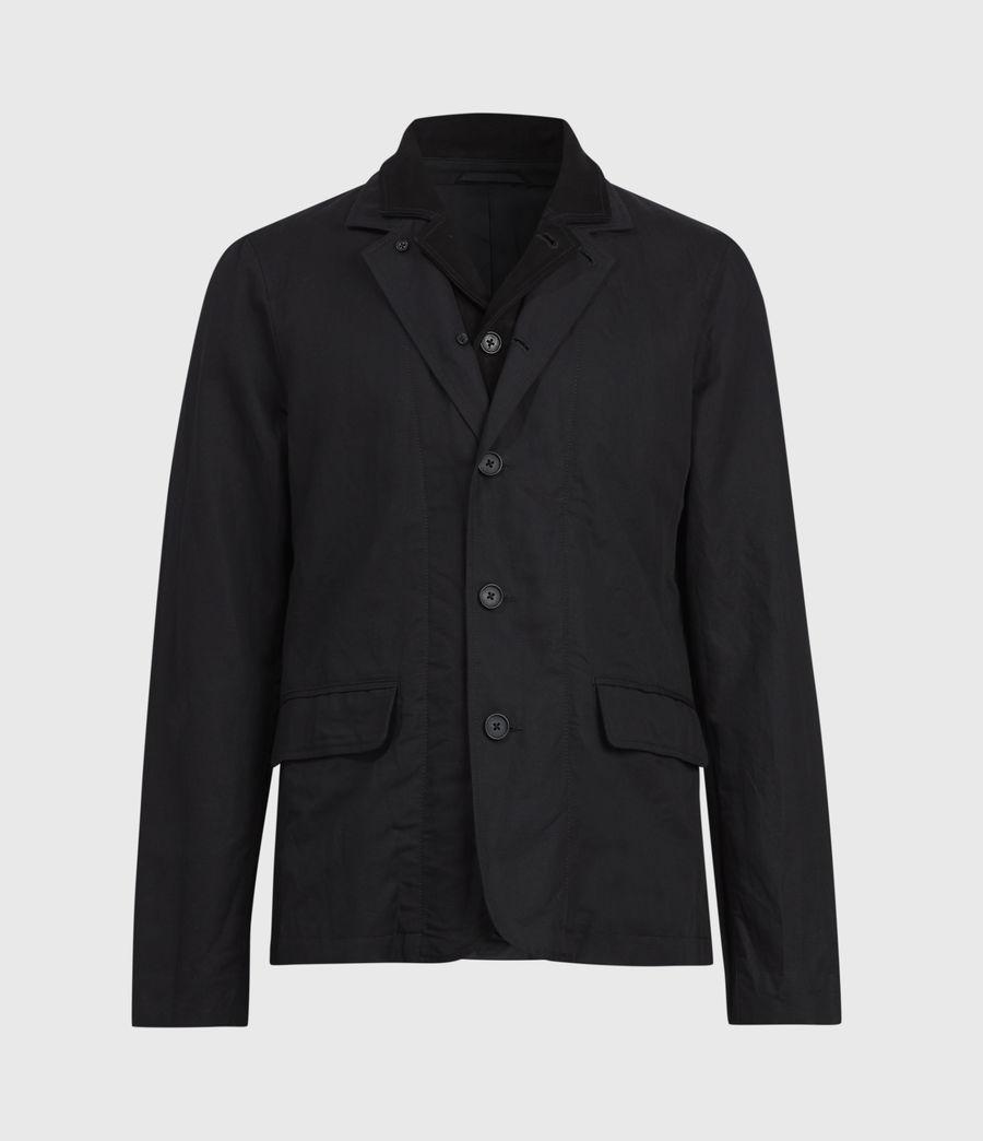 Mens Dunn Linen Blend Blazer (black) - Image 2