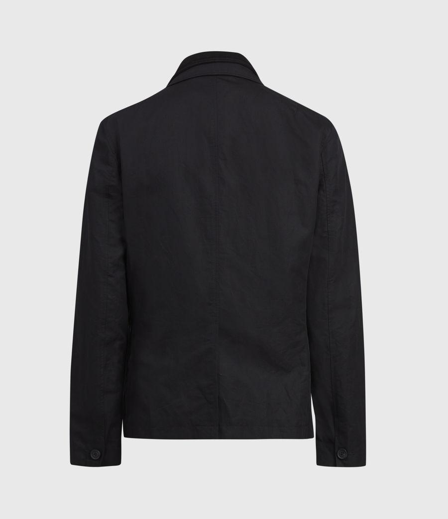 Mens Dunn Linen Blend Blazer (black) - Image 3