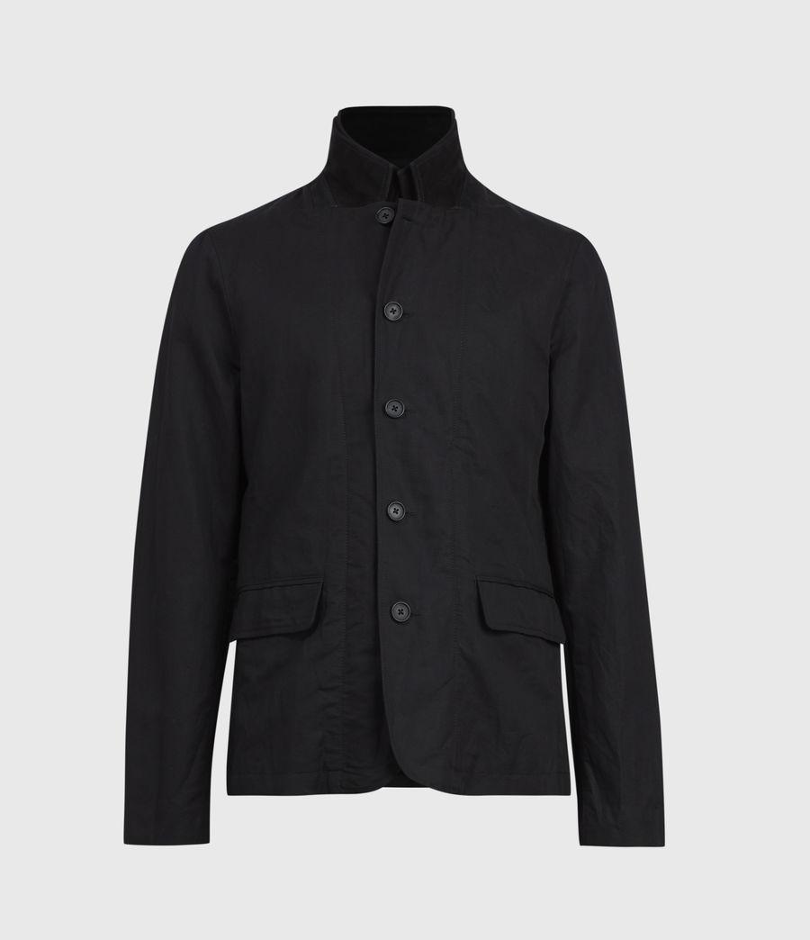 Mens Dunn Linen Blend Blazer (black) - Image 4